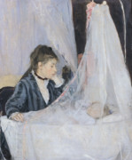 Affection Painting Prints - The Cradle Print by Berthe Morisot
