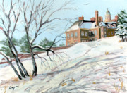 Crane Painting Originals - The Crane Estate in Ipswich Mass by Chris Coyne
