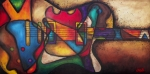 Cubist Art - The Crazy Eight by Darlene Keeffe