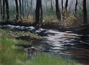 Rill Paintings - The Crick by Emily MaCoy