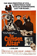 1960s Poster Art Photo Framed Prints - The Crimson Cult, U.s Title Aka The Framed Print by Everett