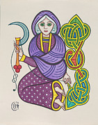Celtic Knotwork Posters - The Crone Poster by Ian Herriott