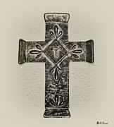 Crucify Metal Prints - The Cross Metal Print by Bill Cannon