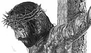 Jesus Drawings - The Cross by Bobby Shaw