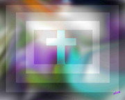 Posters On Digital Art - The Cross  by Elva Kimble
