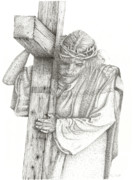 Jesus Drawings Originals - The Cross by Mayhem Mediums