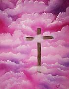 Worship Mixed Media Posters - The Cross Of Redemption Poster by Laurie Kidd
