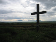 Contemplative Photos - The Cross by Oliver Johnston