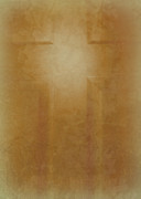 Christian Prints - The Cross on the Door Print by Cindy Wright