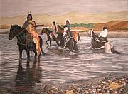 Native American Pastels - The crossing by John Huntsman