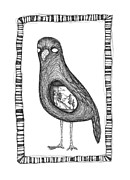Blackbird Drawings Metal Prints - The Crow and The Hobo Metal Print by Zelde Grimm