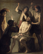 New Testament Paintings - The Crowning with Thorns by Jan Janssens