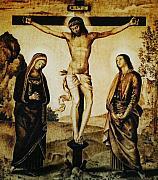 Christ Pyrography Prints - The Crucifixion Print by Dino Muradian