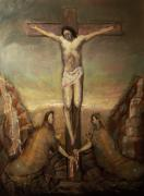 Surrealism Art - The Crucifixion of Christ by Derek Van Derven