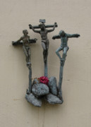 Forgiveness Prints - The Crucifixion Print by Patricia Januszkiewicz
