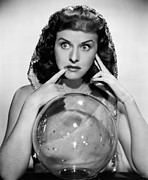 Fod Acrylic Prints - The Crystal Ball, Paulette Goddard, 1943 Acrylic Print by Everett