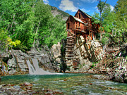 Grist Mills Prints - The Crystal Mill 1 Print by Ken Smith