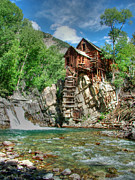 Crystal Metal Prints - The Crystal Mill in Crystal Colorado Metal Print by Ken Smith
