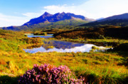 Skye Digital Art Posters - The Cuillin Hills Poster by Mike Bambridge