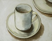 Tea Party Paintings - The Cup  by Cristina Ripper