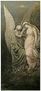 Angel Art Paintings - The Cup of Death by Elihu Vedder
