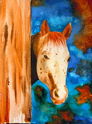 Rainbow Of Colors Framed Prints - The Curious Appaloosa Framed Print by Sharon Mick