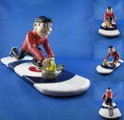 Sports Ceramics - The Curler by Bob Dann