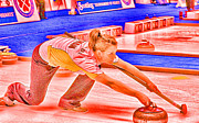 World Champions Framed Prints - The Curler Framed Print by Lawrence Christopher