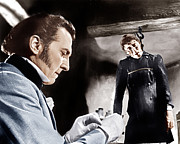 Horror Movies Framed Prints - The Curse Of Frankenstein, From Left Framed Print by Everett