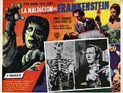 Lobbycard Framed Prints - The Curse Of Frankenstein, Peter Framed Print by Everett