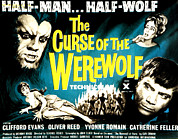 Villagers Framed Prints - The Curse Of The Werewolf, From Left Framed Print by Everett