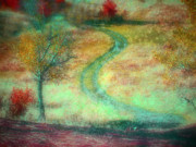 Fantasy Tree Art Art - The Curve in the Road by Tara Turner