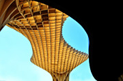 Seville Posters - The Curves of the Metropol Parasol Poster by Mary Machare