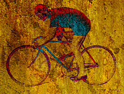 Vintage Bicycle Art - The Cyclist by Andrew Fare