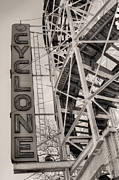 Roller Coaster Posters - The Cyclone Poster by JC Findley