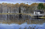 Canadian Geese Paintings - The Cypress Pond  by Betty McGlamery