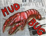 Louisiana Crawfish Posters - The Daily Mud Bug Poster by JoAnn Wheeler