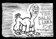 Laughzilla Drawings - The Dalai Llama Lama by Yasha Harari