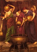 Jugs Metal Prints - The Danaides Metal Print by Pg Reproductions