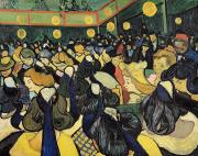 Arles Painting Framed Prints - The Dance Hall at Arles Framed Print by Vincent Van Gogh