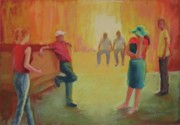 Group Pastels - The Dance by LaDonna Kruger