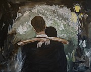 Dancing Couples Paintings - The Dance by Leslie Allen