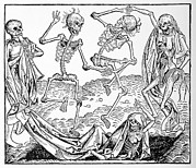 Living Dead Framed Prints - The Dance Of Death, Allegorical Artwork Framed Print by