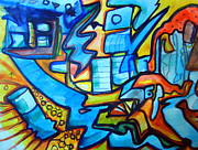 Graffiti Art Painting Originals - the dance of the Bohemians by Steven Holder