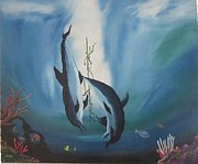 Most Favorite Originals - The Dance of the Dolphins by Miguel MesaArt