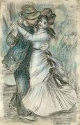 Hands Pastels Prints - The Dance Print by Pierre Auguste Renoir