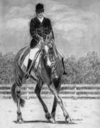 Dressage Drawings - The Dance by Quwatha Valentine