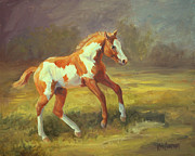  Paint Horse Posters - The Dancer     Paint horse filly Poster by Kim Corpany