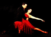 Tango Paintings - The Dancer by Stefan Kuhn