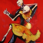 Mexican Art Painting Originals - The Dancers by Sharon Sieben
